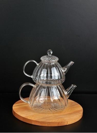 Bayev Cam Çaydanlık Seti - 400776 Renksiz